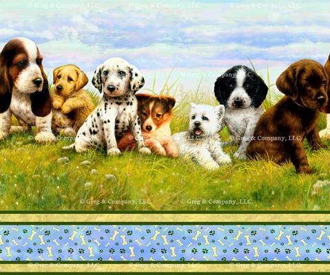 GREGCO T Puppy Stripe